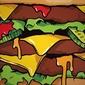 Succulentburger - plakat wymiar do wyboru: 21x29,7 cm
