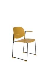 Orange line krzesło z podłokietnikami stacks musztardowy 1200227