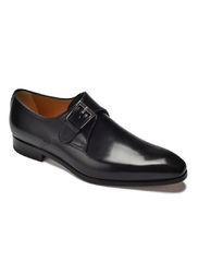 Eleganckie czarne buty męskie typu monki othello 8,5