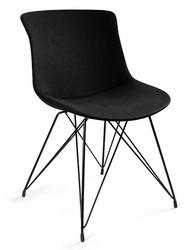 Krzesło do kawiarni tapicerowane tkaniną easy br czarne