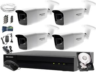 Monitoring komisu, składowiska, wysypiska odpadów hikvision hiwatch hwd-6108mh-g2, 4 x hwt-b323-z, 1tb, akcesoria