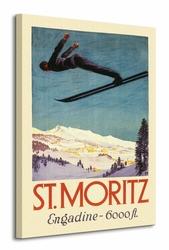 St. Moritz - Obraz na płótnie