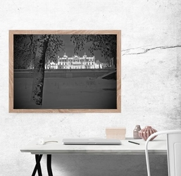 Pałac branickich w zimowej odsłonie - plakat premium