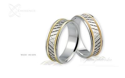 Obrączki ślubne - wzór au-205