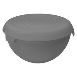 Miska plastikowa z pokrywką practic bąble szara 6 l