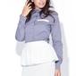 Elegancka szaro-niebieska koszula w nowoczesnym stylu