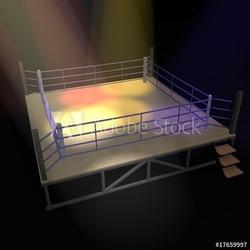 Obraz na płótnie canvas dwuczęściowy dyptyk ring bokserski
