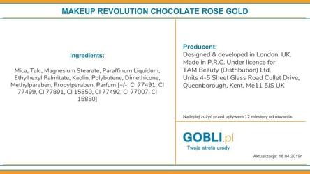 Makeup revolution 16 eyeshadows i love makeup rose gold, paleta trwałych cieni do powiek 22g