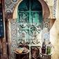 Fototapeta szczegóły pięknej dekoracji mozaika płytki, fez, maroko