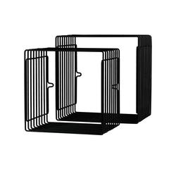 Zestaw metalowych półek mniejsze - czarne