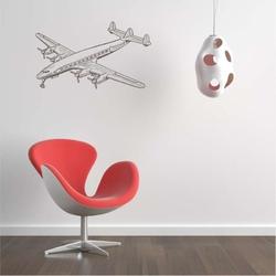 Samolot pasażerski szablon na ścianę 2307