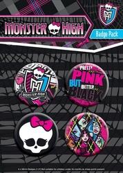Monster high logo - zestaw 4 przypinek