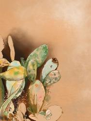 Kaktusy - plakat wymiar do wyboru: 20x30 cm