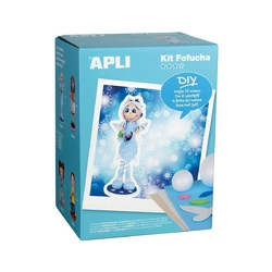 Zestaw artystyczny lalka fofucha apli kids -  zimowa wróźka