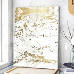Modny obraz na płótnie - golden marble , wymiary - 80cm x 120cm