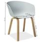 Krzesło kubełkowe kitty szare