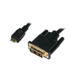 LogiLink Kabel mini HDMI - DVI-D MM 2m, czarny