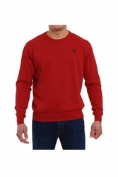 Pierre cardin r-logo bordowy sweter