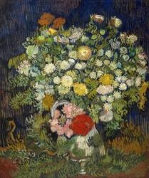 Bouquet of flowers in a vase, vincent van gogh - plakat wymiar do wyboru: 70x100 cm
