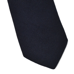 Wełniany granatowy krawat van thorn