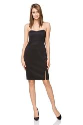 Czarna wyjściowa ołówkowa sukienka gorsetowa