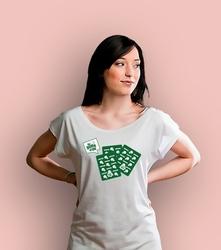 Karty santon t-shirt damski biały xxl