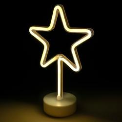 Lampa deco gwiazdka led wys 30 cm i średnicy gwiazdy 18,5 cm