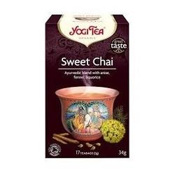 Herbata sweet chai  17 torebek yogi tea bio