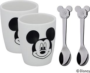 Kubki i łyżeczki dziecięce Mickey Mouse M 4 szt.