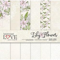 Papier do scrapbookingu 30x30cm lily flower zestaw