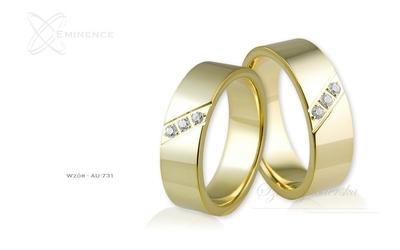 Obrączki ślubne - wzór au-731