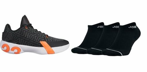 Zestaw buty Air Jordan Ultra.Fly 3 Low - AO6224-008 + Skarpety Air Jordan Jumpman No-Show 3 Pak - SX5546-010