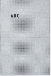 Tablica design letters a3 jasnoszara