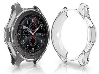 Etui silikonowe alogy case do samsung gear s3 watch 46 mm przezroczyste - przezroczysty