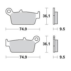Klocki hamulcowe kh131 metaliczne: 21 honda: tył cr8085, cr125250500