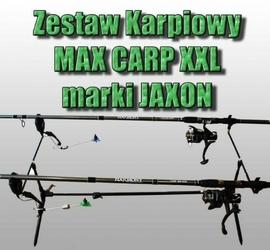 Zestaw Karpiowy MAX CARP XXL 2 WĘDKI, 2 KOŁOWROTKI, ROD POD, 2 SYGNALIZATORY, 2 SWINGERY
