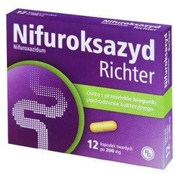Nifuroksazyd richter 200mg x 12 tabletek