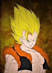Dragon ball - gogeta - plakat wymiar do wyboru: 59,4x84,1 cm