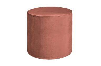 Woood pufa sara okrągła velvet postrzany różowy 350409-31