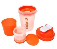 Smart shaker 3w1 bidon 600 + 200 ml+ pilbox 120 ml