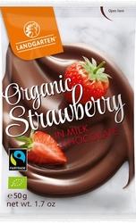 Landgarten | liofilizowane truskawki w mlecznej czekoladzie | gluten free - organic - fairtrade