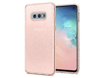 Etui spigen liquid crystal glitter do samsung galaxy s10e rose quartz - różowy