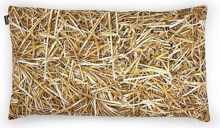 Poduszka z wypełnieniem z łusek gryki foonka 50 x 30 cm słoma