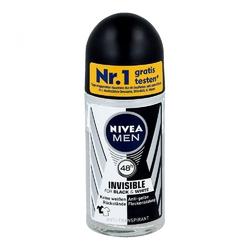 Nivea men deo roll-on invisible black  white