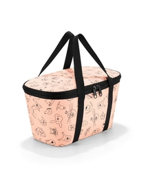 Torba termoizolacyjna coolerbag xs kids cats and dogs rose