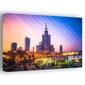 Kolorowa warszawa pałac kultury i nauki - obraz na płótnie wymiar do wyboru: 70x50 cm
