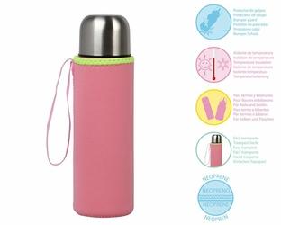 Etui neoprenowe na termos lub butelkę, różowe, Kiokids - Różowy