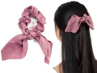 Gumka do włosów brudny róż apaszka scrunchies