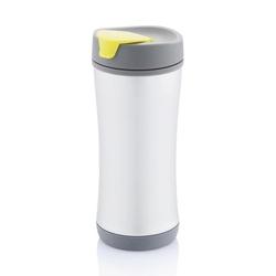 Kubek termiczny srebrno-zielony Boom XDdesign