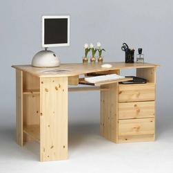 Narożne biurko home office steens sosna naturalna